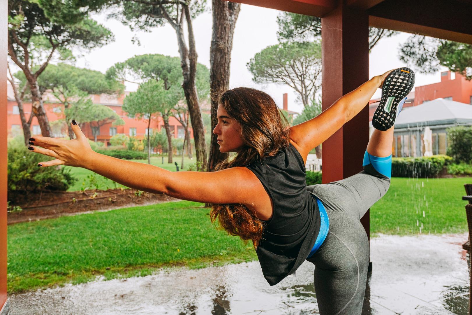 Yoga nos jardins do Sheraton Cascais Resort